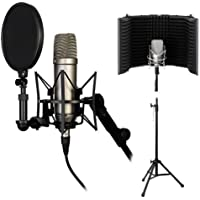 Rode NT1-A Complete Vocal Recording Solution with Acoustic Reflection Filter and Tripod Mic Stand Kit