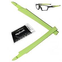 NexCraft Crosslink Black Ear Sock Rubber Sleeve Unobtainium Oakley Replacements Kit Temple Arm Model Switch Pro Sweep Eyewear Glasses OX8027 OX8029 OX8030 OX8031 OX8033 OX3128 OX3149 Prescription (1 Pair of Ear Sock, Lime Green)