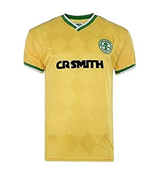 4ccd91f21e3 Celtic FC Official Gift Mens 1988 Centenary Retro Home Kit Shirt Yellow  Large: Amazon.co.uk: Clothing