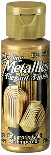 DecoArt Dazzling Metallics 2-Ounce Emperor's Gold Acrylic - Bronze Gilt Finish Antique