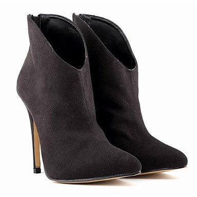 Gris Botines Señaló Café RTRY Botas Casual 7 De Mujer Moda Talón Botines Pu Zapatos De La 5 5 5 Toe De EU37 US6 Botas Stiletto UK4 Negro CN37 Caída ZTHxZ7