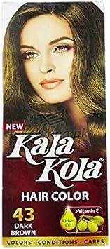 Kala Kola - Tinte para el cabello, color marrón oscuro, 43 con aceite de oliva + vitamina E