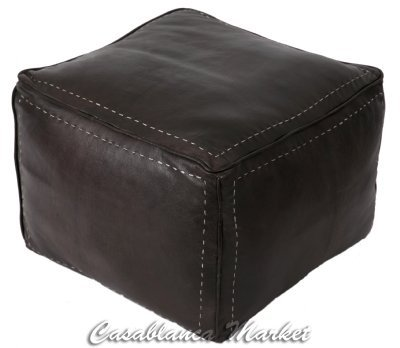 Amazon Casablanca Market Square Leather Pouf With White Interesting How To Make A Square Pouf