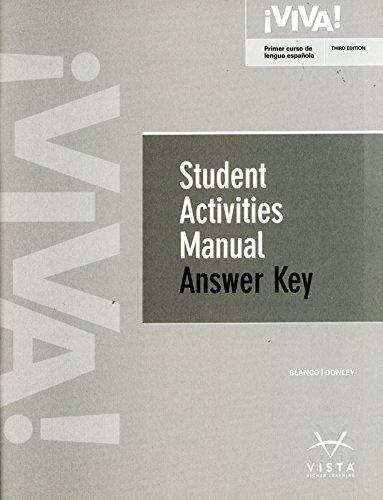 Viva 3rd Student Activities Manual Answer Key
