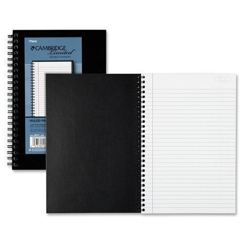 1 Subject Limited Business Notebook (06074 Mead Cambridge 1-Subject Limited Business Notebook - 80 Sheets - 20 lb Basis Weight - 8