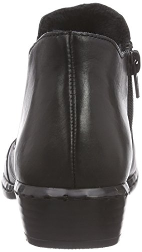 Rieker 52280 - botines chelsea de cuero mujer negro - negro (negro / 00)