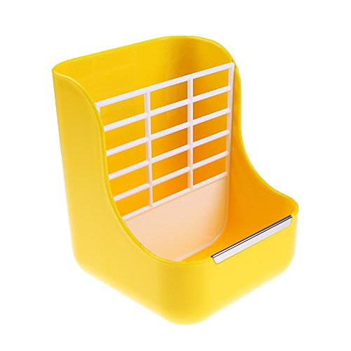 Hay Food Bin Feeder, Small Animal SuppliesHay Food Bin Feeder, Small Animal Supplies Rabbit Feeder Bunny feeder Guinea Pig Feeder Chinchilla Food Feeder - Double use for Grass and Food (YELLOW) by Okared (Image #2)