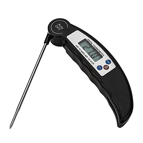 Digital Instant Read Meat Thermometer For Grill And Kitchen Food Cooking. Best Ultra Fast Digital Kitchen Probe. with Calibration & Foldable Probe for Food Baking Liquid Meat BBQ Grill Smokers