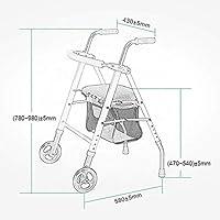 YFQ Universal Roller Walker Andador Estándar Plegable Anciano ...