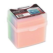 INNOVERA 81901 CD/DVD Slim Storage Box, Holds 20 Discs