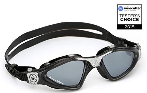 Aqua Sphere Kayenne Swim Goggles with Smoke Lens (Black/Silver) ()