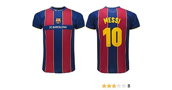 Barcelona Camiseta de fútbol Oficial FCB 2021 – Messi número 10 – Camiseta de fútbol Oficial del Equipo de fútbol FC 2021 – Messi número 10