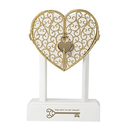 Cathy's Concepts Key to My Heart Vow Keepsake Wedding Memory Storage Box, 5 Piece