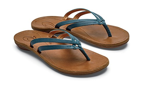 OLUKAI U'I Sandals - Women's Teal/Sahara 11 by OLUKAI