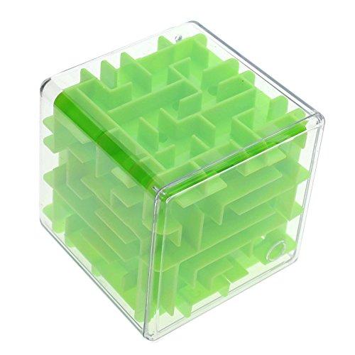 3D labyrinthe Cube - Green