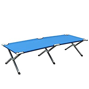 Bature Folding Bed Camping Single Leisure Folding Bed Indoor Outdoor Aluminium 6-leg Travel Camping Bed