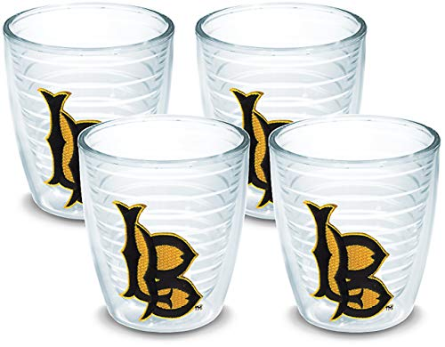 (Tervis 1042352 Cal State Long Beach Logo Tumbler with Emblem 4 Pack 12oz, Clear)