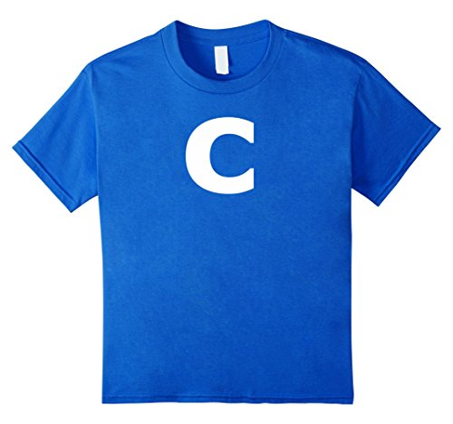 Kids Letter C Group Halloween Costume Cute & Funny Tshirt 6 Royal Blue - C Halloween Costume Ideas