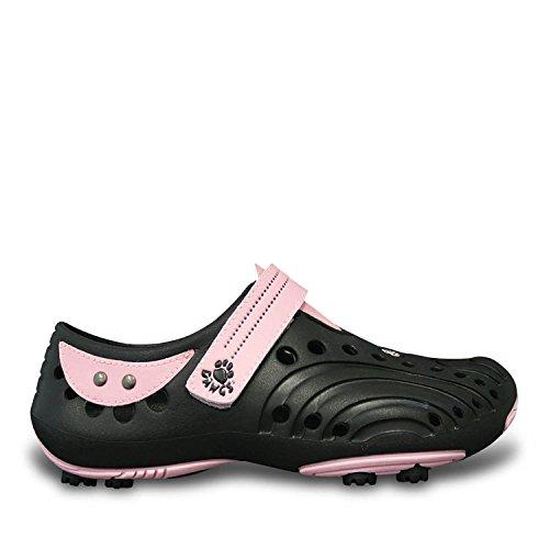 DAWGS Womens Golf Spirit Walking Shoe Black/Soft Pink m0u7VLHC