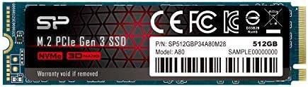 Silicon Power PCIe M.2 NVMe SSD 512GB Gen3x4 2280 R/W