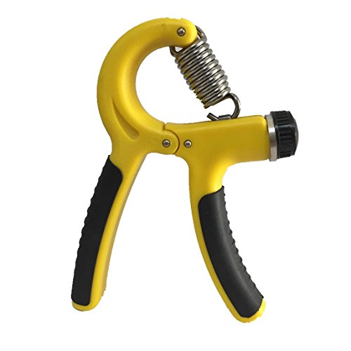 UPC 704298685177, Sfoothome Grip Strengthener , Hand Exerciser for Increasing Hand Wrist Forearm and Finger Strength , Adjustable Resistance Range 22 to 88 Lbs (10-40 Kg) (Yellow)