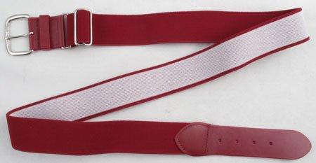 All Star Adult Adjustable Elastic Baseball Belts (Cardinal Color)