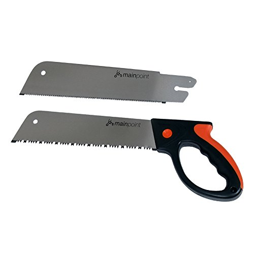 Carpentry Pull Grip Handle Saw with Replacement Blade,12 Inch by Mainpoint