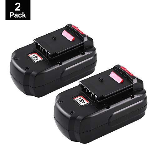 Topbatt Replace for Porter Cable 18V Battery 3.0Ah Ni-Mh PC18B PCC489N PCMVC PCXMVC 2Packs