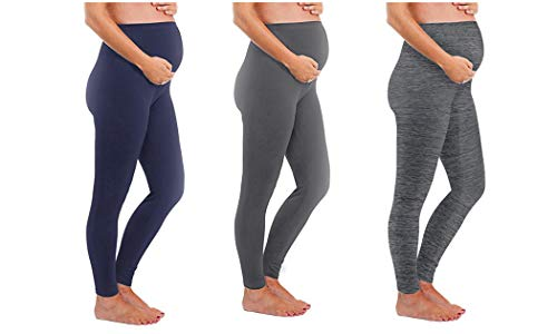 Touch Me Maternity Leggings Black Navy Grey Soft