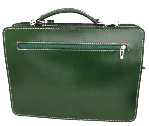 CTM Borsa Uomo Verde Portadocumenti Organizer, 35x25x12cm 100% Made in Italy