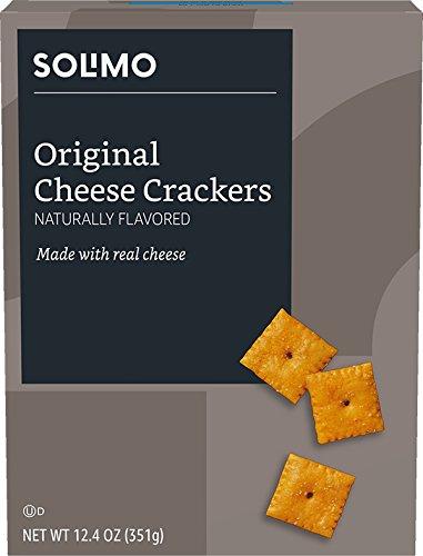 Amazon Brand - Solimo Cheese Crackers, Original Flavor, 12.4 ounce
