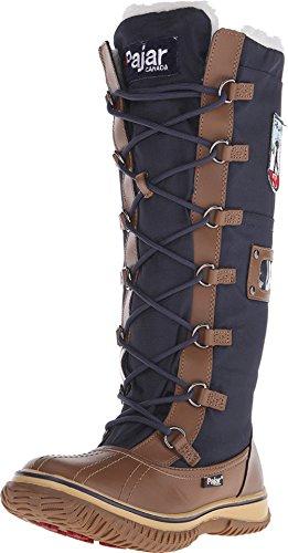 Pajar Womens Grip Zip Boot Cognac / Navy