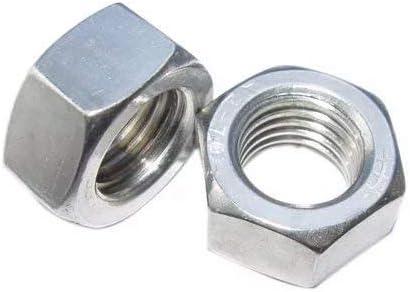 2pcs M20 x 1.5mm Pitch Stainless Steel Fine Thread Hex Nut Metric ABBOTT