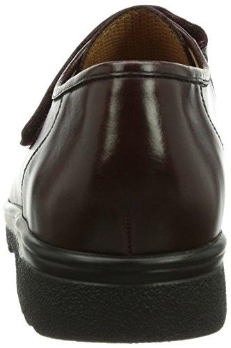 Ganter ERIC, Weite G - Zapatillas de casa de cuero hombre Bordo 4500