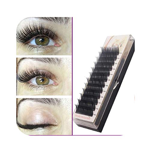 Individual Silk Eyelash Further All size,Eyelash Extension Mink,Individual Eyelash Extensions,C,0.07mm,12mm]()