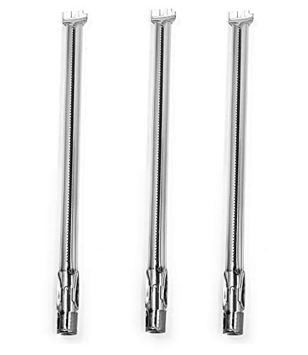 Broilmann Main Burner Tube 62752 (3-Pack),19 1/2″ Stainless Steel BBQ Grill Burner Replacement for Weber Genesis 300 Series (2011-2016 Grill Models with Up Front Controls)