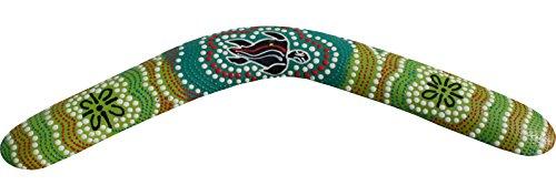 Raan Pah Muang Brand Thai Made Australian Aboriginal Art Decorative Boomerang #88373 by Raan Pah Muang (Image #1)