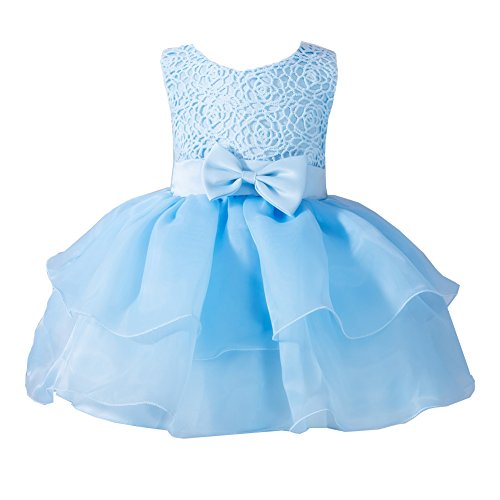Buy light blue ruffle dress - 6