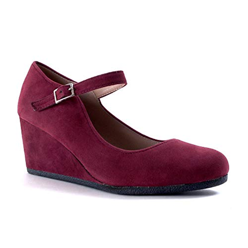 Burgundy Suede Shoes - Guilty Shoes - Patricia-05 Burgundy Suede, 7.5
