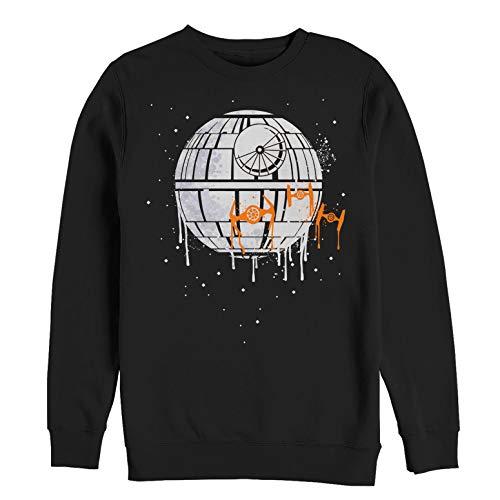 Star Wars Men's Licensed Halloween No Moon Drip Crew Fleece, Black, Large (Darth Vader Dark Side Of The Moon)