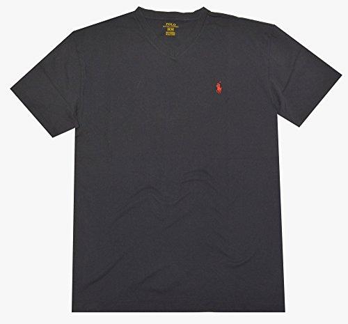 - Polo Ralph Lauren Men V-Neck Pony Logo T-Shirt (L, Ink)