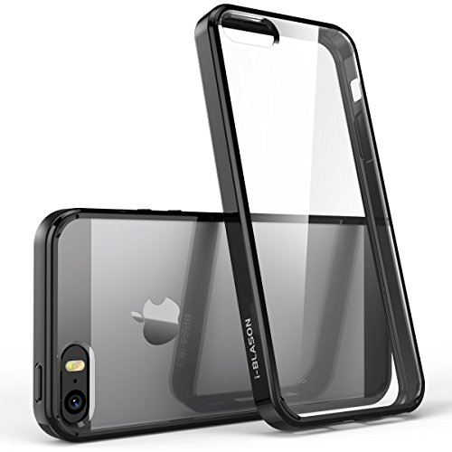 iPhone 5/5s/SE Case, [Scratch Resistant] i-Blason Clear [Halo Series] for Apple iPhone SE Cover 2016 Release/Compatible with iPhone 5S/5 (Clear/Black) by i-Blason