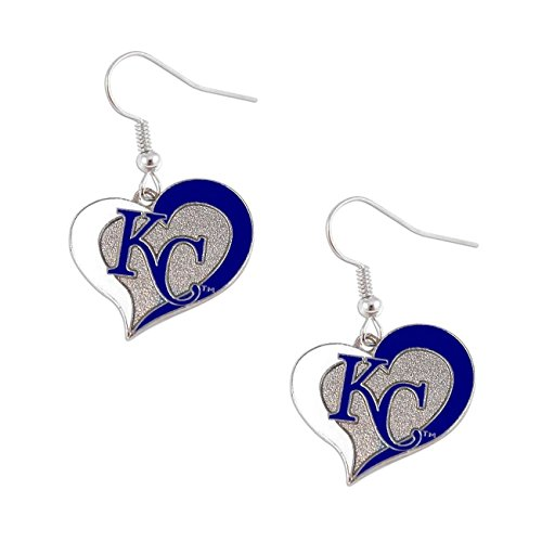 Tampa Bay Rays Swirl Heart Earrings -