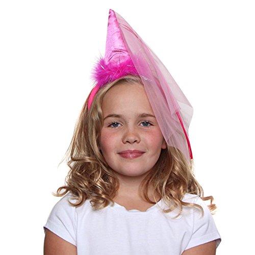 Hot Pink Princess Cone Hat Headband ()