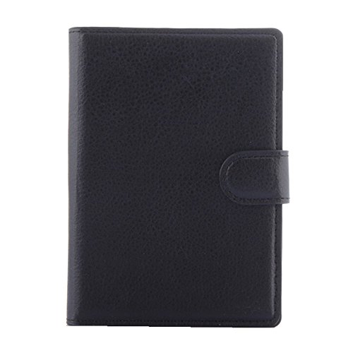 Black Blackberry Leather Folio (Wallet Case for BlackBerry Passport, Turpro PU Leather Folio Flip Cover Wallet Case with Stand and Card Holder for BlackBerry Passport Q30 (Not compatible with the BlackBerry Passport at AT&T) (Black))