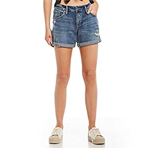 Silver Jeans Co. Women's Mid Rise Boyfriend Shorts