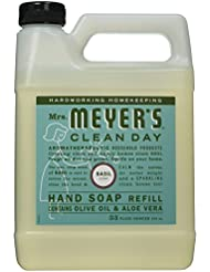 Mrs. Meyers Liquid Hand Soap Refill, Basil Scent, 33...