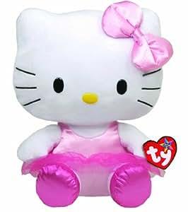 Hello Kitty - Peluche ballerina, 28 cm, color rosa (TY 90114TY)
