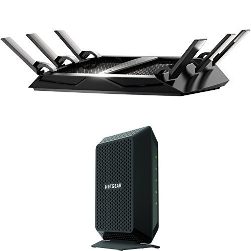 Price comparison product image NETGEAR Home Networking Bundle - DOCSIS 3.0 Cable Modem with AC4000 WiFi Router