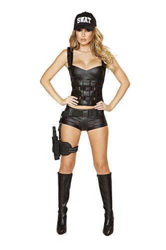 Sexy Women's 2pc Hot SWAT Baby Hottie Cop Costume (M) (Hot Cop Costumes)